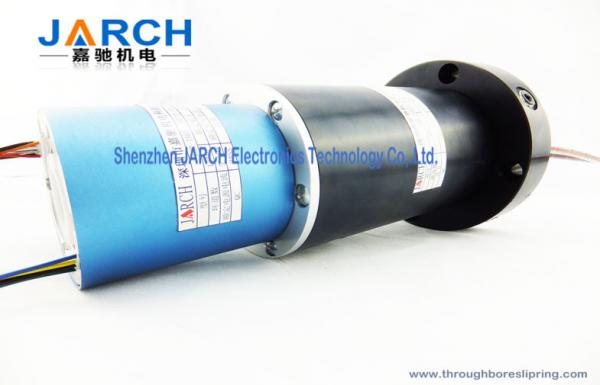 Quality Electrical Ethernet Hybrid Slip Rings Four Passage With 78mm Overall Diameter , 30RPM Speed for sale
