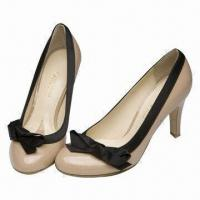 China Round Toe Dress Shoes with Fashionable Heels, Suitable for Sexy and Wide Women on sale