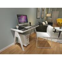China Most popular Tempered Glass Computer Desk With steel Legs for sales wholesale