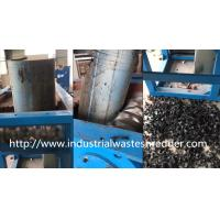 China Scrap Waste Plastic Pipe Shredder , Hollow Container Pvc Pipe Shredder wholesale