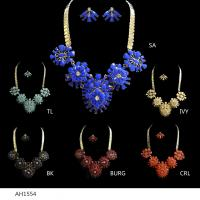 China EU Style Colorful Acrylic Silver PLATED Bridal & Party Jewelry Sets wholesale