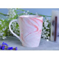Marble patterned ceramic candle holders ceramic mug sets for coffee or tea drinking