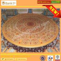 China (BK0109-0014T)Imperial Luxury Wood Marquetry Pedestal Round Dinning Table, Noble Dinner Table With Chairs, Dia 5M Super wholesale