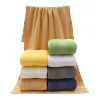 China 7colors 100% cotton combed yarn bath towel 70*140cm, 500g for wholesale, logo embroidered acceptable wholesale