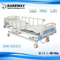 Mobile Manual Home Hospital Beds 3 Functions With Aluminium Side Rails