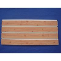 China 4ft 8ft Slat Wall Panels Fixture Customized With Wood Grain Surface wholesale