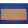 China Moisture Proof 4ft 8ft PVC Slatwall Panels Fixture Customized With Wood Grain Surface wholesale