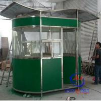 China Reliable Steel Frame Outdoor garden sentry box , Prefab Guard House on sale