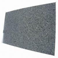 China Gray Granite Tiles, 1cm Thickness Calibrated, with Surface Polished and Chamfered wholesale