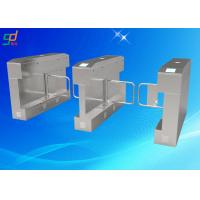 China Uhf Electronic Security Flap Barrier Turnstile Pedestrian Barrier Gate on sale