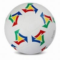 China Rubber Soccer Ball, Available in Size of 5, Customized Logos are Accepted wholesale