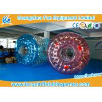 China 0.7mm TPU  Inflatable Water Roller / Water Walking Roller Blue And Red Color wholesale