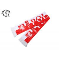 China Polyester Soccer Team Polska Scarf​ , Football Fan Champions League Scarf on sale