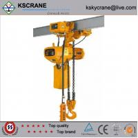 China 1ton electric chain hoist with manual trolley wholesale