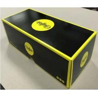 China Lid And Base Cardboard Shoe Boxes Black Yellow Easy To Disassemble Customized wholesale