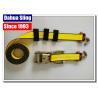 """China El neumático amarillo ata las correas, 2"""" X 27' completamente las correas del trinquete del gancho para los camiones wholesale"""
