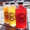 China 16oz Amber Boston Round Bottle wholesale