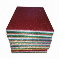 China Glitter EVA Sheets, Measures 20 x 30cm, Good Material of DIY Accessories for Children on sale