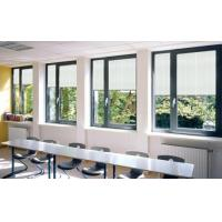 China Bathrooms Venetian Horizontal Glass Shutter Window Blinds With Single Tempered Glass wholesale