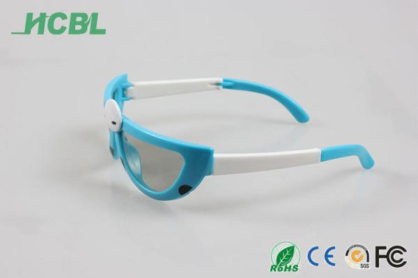 Quality Cute Polarized 3D Glasses Durable Lenses With Blue And White Color for sale