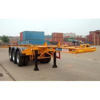 China Flatbed Shipping Container Delivery Trailer High Efficiency For Port Transport wholesale