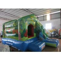 China Small jungle inflatable jump house combo mini inflatable bounce with slide for kids under 7 years wholesale