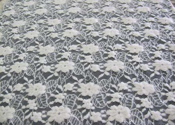 Quality Washable Brushed Floral Lace Stretch Fabric / NylonCotton Spandex Fabric CY-LQ0043 for sale