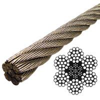 Buy cheap 6MM 1*12 stainless steel wire rope from wholesalers