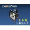 China Black 5000k Led Floodlight With PIR Motion Sensor , 100lm / W wholesale