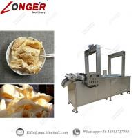 China Continuous Pork Skin Frying Machine Automatic Pork Skin Fryer Industrial Pork Skin Frying Equipment Continuous Fryer wholesale