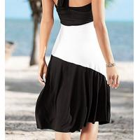 China Polyetser color block long attacked sashes multiple way wholesale plus size Dress on sale