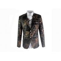 China Leopard Patterned Suit Jacket Single Breasted Fit European / American Men wholesale