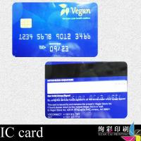 China CMYK Printed 0.76mm 13.56mhz IC Smart Card With Chip / Magnetic Strip wholesale