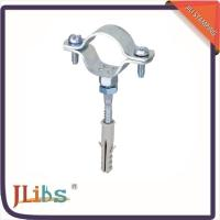 China Cast Iron Pipe Clamps , Wall Mount Pipe Bracket With Nut Tapping Screw Nylon Plug wholesale