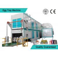 China Big Capacity Rotary Pulp Fruit Tray / Egg Tray Forming Machine With Multi Layer Dryer wholesale
