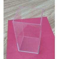 China Retail Small Acrylic Tableware Transparent Shoe Boxes Without Lid For Storage on sale