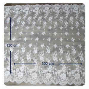 Buy cheap Eco - содружественная крася ткань шнурка Chantilly платья венчания, слоновая кость повторила флористическое from wholesalers
