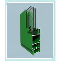 China Anodized / Powder Coated Window Aluminum Profile Green Color ISO Certification wholesale