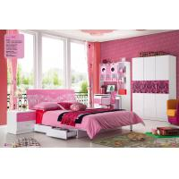 China modern girls painted MDF bedroom/kids bed with drawers,#850 on sale