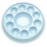 China 10 Wellsのペンキの混合のパレットの芸術のペンキ セット、円形の磁器の水彩画のパレット wholesale