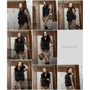 China Women's Fox Fur VestS Fox Fur Coats Fox Fur Jacket Japanese & Korean style Z41 Black wholesale