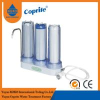 China Triple Filtration Three Stage Countertop  Water Filter PP Activated Carbon wholesale