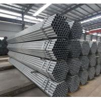 China Schedule 80 Galvanized Steel Pipe For Water Supply , Round Galvanized Steel Tube wholesale
