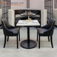 China Restaurant Dining Room Furniture Sets With Wood Frame Leather Seat Upholstery on sale