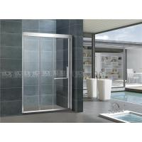 China Inline Stainless Steel Sliding Glass Shower Cubicles 8 / 10 MM Clear / Frosted For House on sale