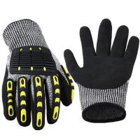 China Deckhand Cut Proof Work Gloves TPR Impact Resistant Oil Gas Safety Gloves wholesale