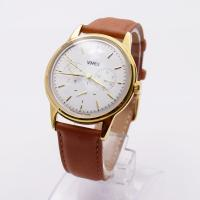 China Mens Stainless Steel Chronograph Watches / Gold Color Belt Watches For Gents wholesale