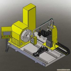 China CNC pipe plasma cutting machine 100-1000mm OD wholesale