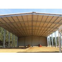 China Metal Farm Fodder storage Open Bay Hay Sheds / Light Steel Structure Buildings on sale