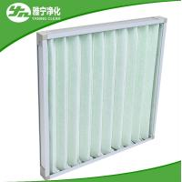 China Pleat Pre Air Filter Compact Air Purifier Pre Filter With Aluminum Frame wholesale